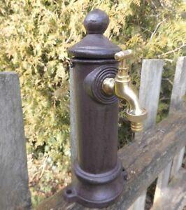 standbrunnen s ule brunnen wasserhahn garten antik nostalgie stil zapfs ule neu ebay. Black Bedroom Furniture Sets. Home Design Ideas