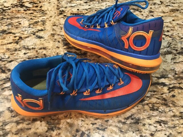 816b7152aa39 Nike KD VI 6 Elite Size 10 Photo Blue Orange Mens Basketball Shoe ...
