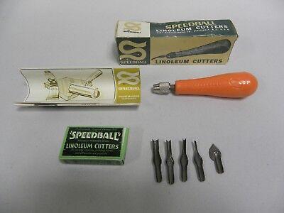SPEEDBALL ART PRODUCTS 4131 LINOLEUM CUTTER ASSORTMENT #1 BOXED