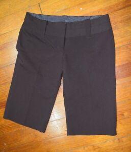 Charlotte Russe Linen Bermuda Shorts Brown Walking Shorts Woman's Size 9