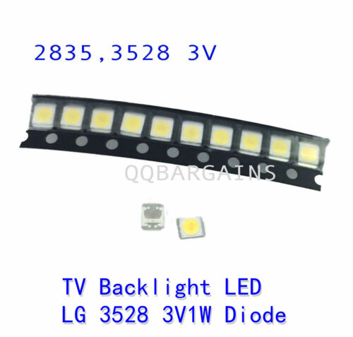 TV Backlight LED Diode LED SMD 3528 3V Coolwhite for Samsung Vizio LG RCA 10PCS