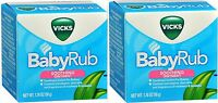 Vicks Baby Rub Soothing Comfort For Babies 1.76 Oz ( 2 Pack )