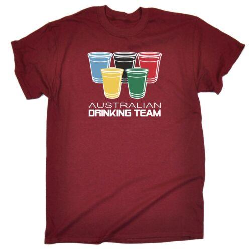 AUSTRALIAN Bere Team PARTY Sports PUB BIRRA humour t-shirt Tee Divertente Compleanno
