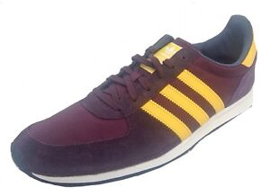 website for discount new arrivals arrives Details about Adidas Adistar Racer Mens RETRO Trainers M18228 UK 6-13.5  Leather Maroon/Gold