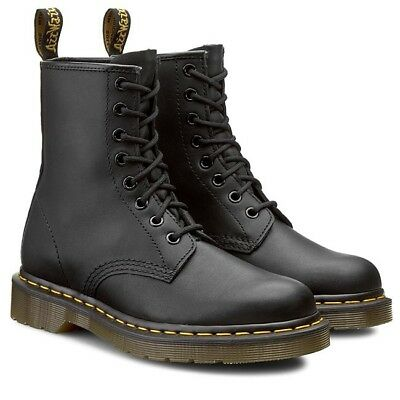 nowy haj aliexpress wybór premium Dr. Martens 1460 8 eyes Greasy Black 11822003 Men's Boots | eBay