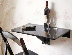 Detalles de SoBuy®Mesa plegable de pared,mesa de cocina,mueble  infantil,60x40cm,FWT03-SCH,ES