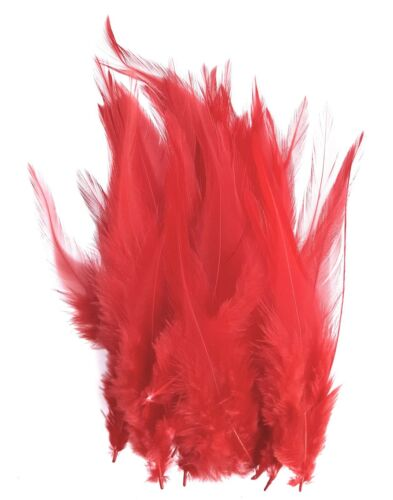 """Coloured 4-6/"""" 10-14cm Rooster Feathers for Craft Costume Millinery Card Making"""