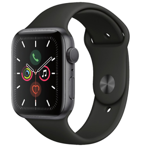 Apple-Watch-Series-5-44mm-Space-Gray-Aluminum-Black-Band-GPS-MWVF2LL-A
