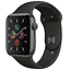 Apple-Watch-Series-5-44mm-Space-Gray-Aluminum-Black-Band-GPS-MWVF2LL-A thumbnail 1