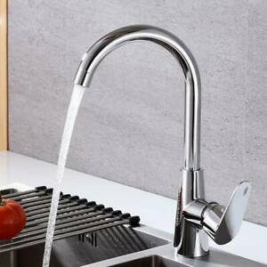 Modern Kitchen Sink Mixer Taps Swivel Spout Single Handle Tap Chrome Faucet Ebay