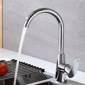 Modern Kitchen Sink Mixer Taps Swivel Spout Single Handle Tap Chrome Faucet Ebay