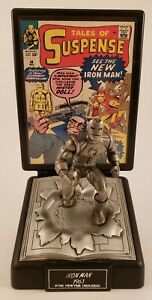 Comic-Book-Champions-Silver-Age-1963-Version-Iron-Man-Fine-Pewter-Figure