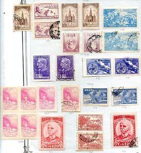 Bresil-25-timbres-Lot-MH-amp-utilise
