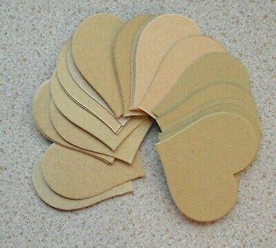 35 Asst corazón en forma de tarjeta recortes para Manualidades 62mm X 62mm Nuevo