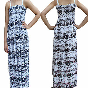 Ladies-Maxi-Dress-Bodycon-Womens-Full-Length-New-Summer-Fashion-strap-6878-Sale