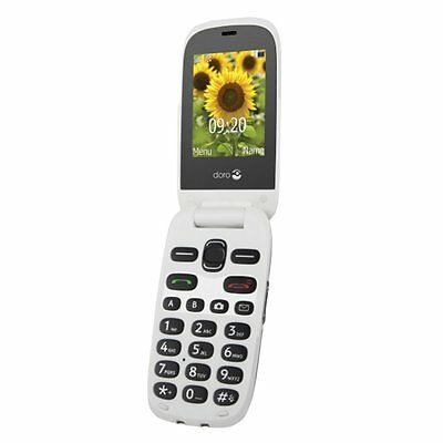Doro PhoneEasy 6030 Flip Fold Big Buttons Camera Elderley Micro Sim Mobile Phone