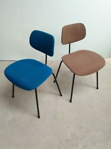 2x-Wilde-amp-Spieth-SE-68-chair-chaise-Egon-Eiermann-W-S-Minimal-MCM-1950s