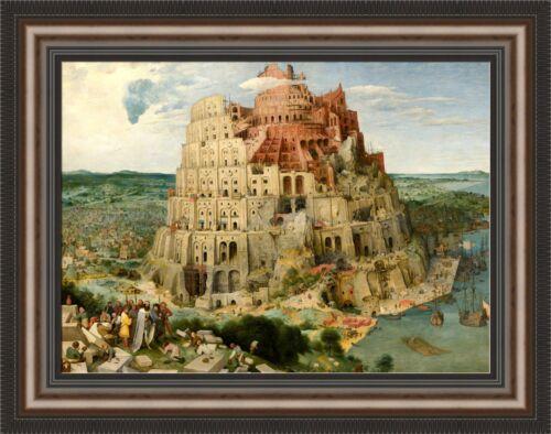 """Framed 27/""""x21/"""" Pieter Bruegel the Elder The Tower of Babel V06-21 Vienna"""