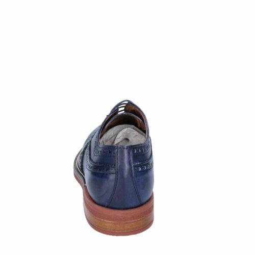 BIGOTTI Scarpe Uomo Classiche Derby Colori Marrone e Blu in Pelle