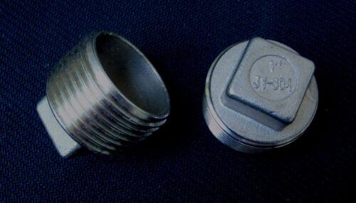 """STAINLESS STEEL PLUG 1/"""" NPT PIPE PP-100"""