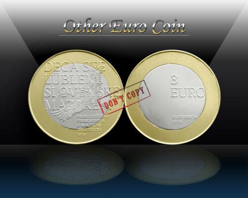 Bi-Metallic Commemorative Coin SLOVENIA 3 EURO 2019 PREKMURJE UNC NEW