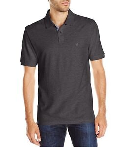 Original-Penguin-Daddy-O-Short-Sleeve-Solid-Polo-Shirt-Dark-Charcoal-Heather-XL