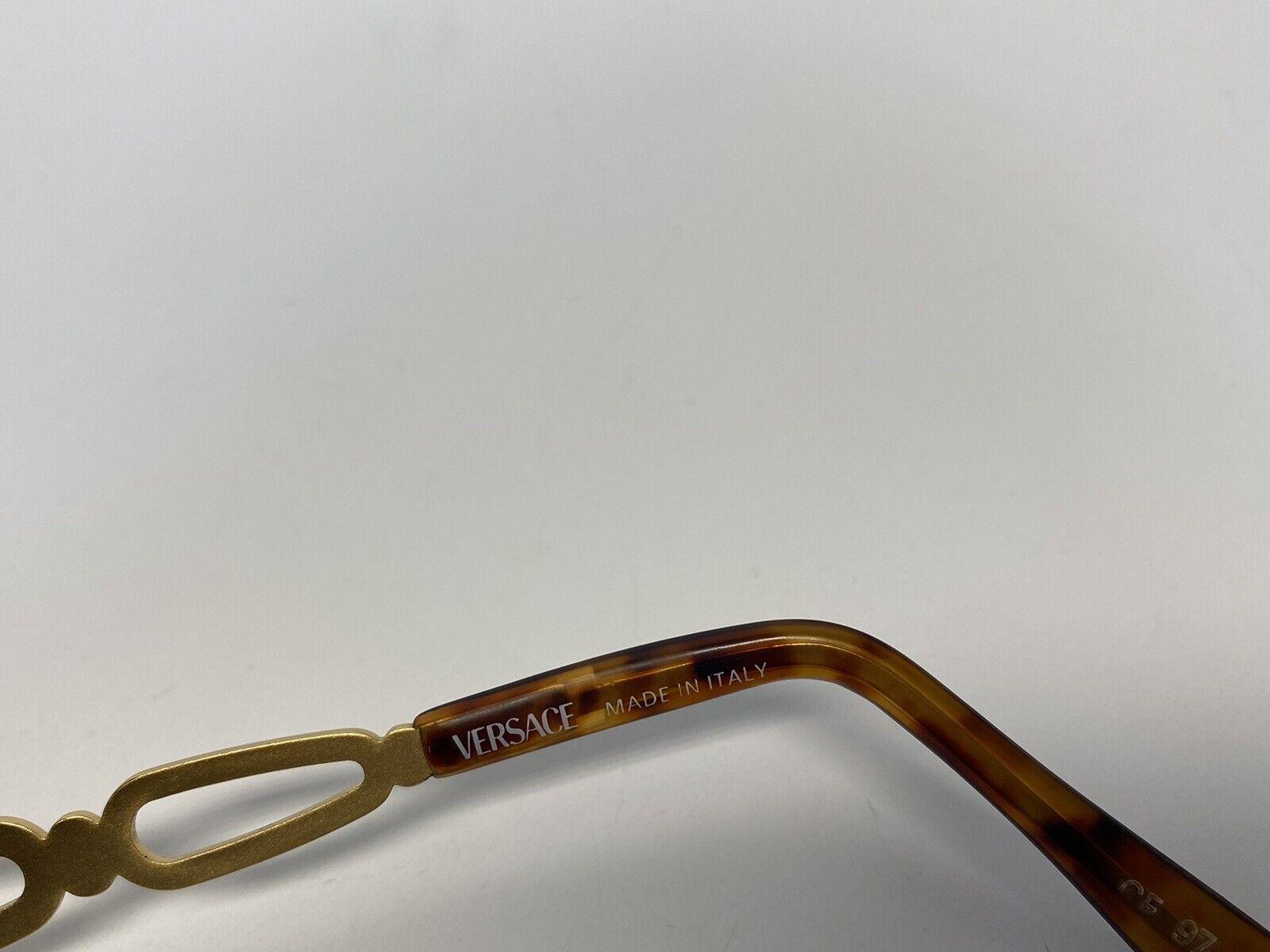 Rare Vtg Gianni Versace Brown Gold Medusa Sunglas… - image 6