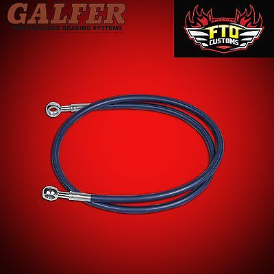 """YZF-R1 Galfer Red 36/"""" Extended Rear Brake Line for Swingarm Extensions"""