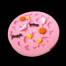Hot Charm Halloween Theme Trick Silicone Fondant Mold Mould Cake Chocolate Decor