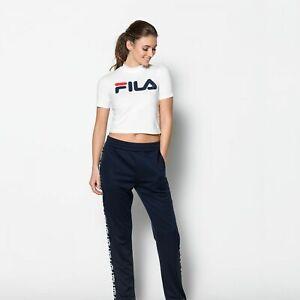 Details zu FILA Every Turtle Tee Shirt T-shirt Weiss Damen Logo Gr. XS //  Neu