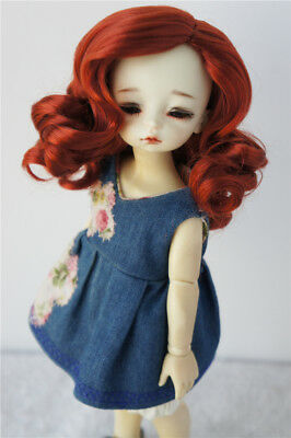 """6-7/"""" Long Forest Straight Doll Wig 1//6 Synthetic Mohair BJD Doll Hair 7 colors"""