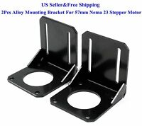 2pcs Alloy Steel Mounting Bracket For 57mm Nema 23 Stepper Motor Cnc/3d Printer