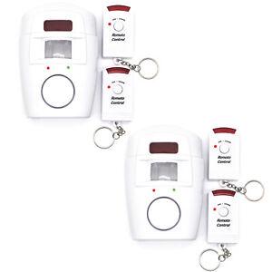 2x-Infrarot-Alarmanlage-Bewegungsmelder-Sensor-Sirene-Alarm-Sicherheit-System