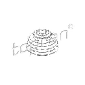 Faltenbalg Sicherungsstift-Schaltstangenarm unten Topran 111 328