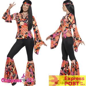 Ladies-Willow-Hippie-Costume-Womens-70s-1970s-60s-Groovy-Hippy-Retro-Fancy-Dress