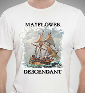 Mayflower-Descendant-T-Shirt-with-Free-Car-Decal