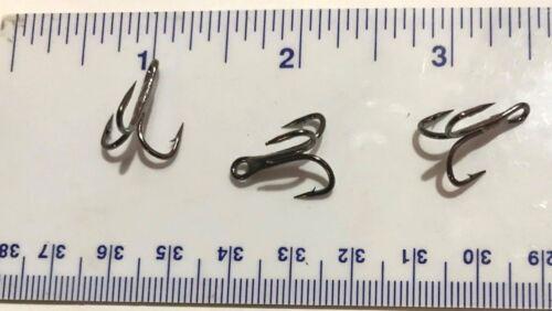50 GT Top Quality 3X Black Treble Fish Fishing Hooks Size 8