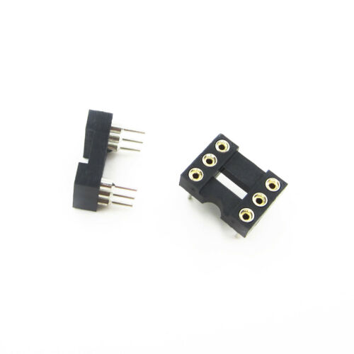 10Pcs 6 PIN Round DIP IC Sockets Adaptor Narrow Good Quality