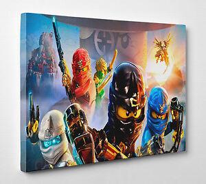 Image Is Loading X Large Lego Ninjago Characters Children Decoration Room