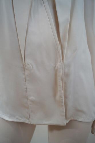 Mccartney Cream Blouse Uk10 Sleeveless Reverse Lapels Cupro Stella 100 It40 SHqdwS4