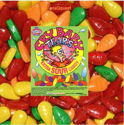 CRY BABY SOUR TEARS 9200pc 24lb+ bulk candy Sweet Tart Tangy Fruit Dubble Bubble