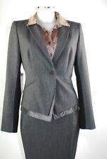 Apriori Sakko 38 Blazer grau, schwarz Jacket Polyester Viskose  neu mit Etikett