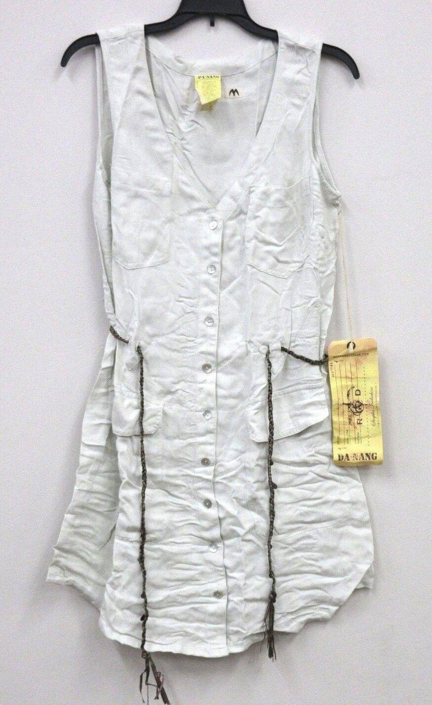 NEW Da-Nang Women's DRESS Sleeveless Belted Sleeveless CRYSTALS SKG2023 M