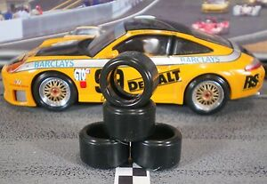1-32-URETHANE-SLOT-CAR-TIRES-2pr-PGT-20125LMXD-fit-Scalextric-911-GT3
