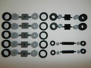 LEGO-45-teiliges-RADERSET-mit-verschiedenen-ACHSEN-und-verschiedenen-RADER-Neu