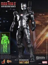 Hot Toys Iron Man War Machine Mark II Diecast Exc UK New Unopened Factory Sealed