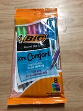 Bic Round Stic Grip Xtra Comfort Fashion Ballpoint Pens Assorted Fashion Pack 8
