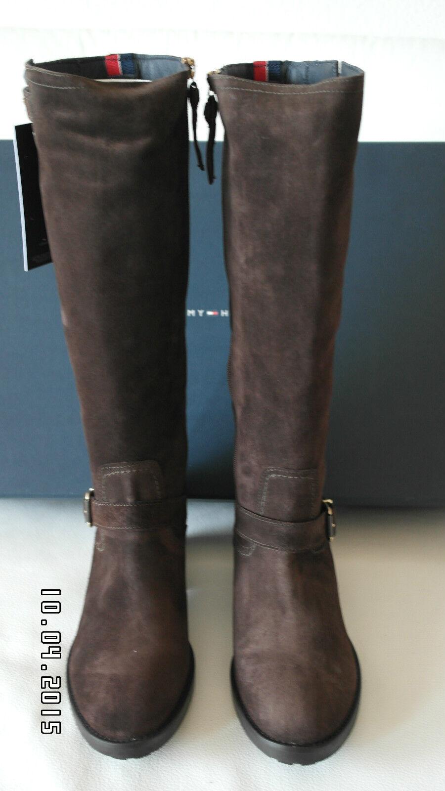 Grandes zapatos con descuento Tommy Hilfiger Stiefel Modell Whitney Dunkelbraun ** NEU **  OVP Gr.39