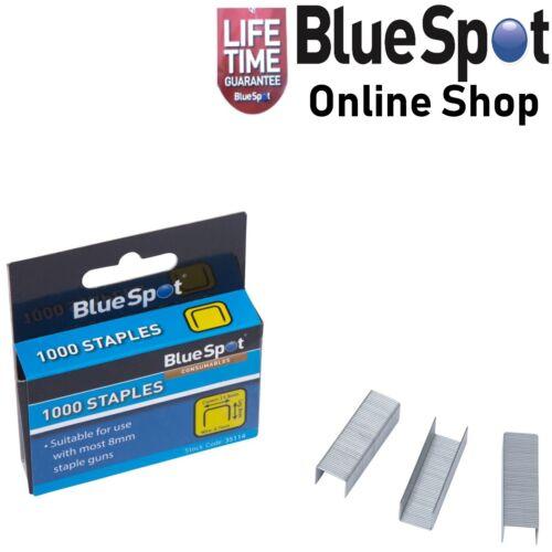 BLUE SPOT 35114 8mm STAPLES PACK OF 1000 UPHOLSTERY STAPLE GUN TACKER REFILLS
