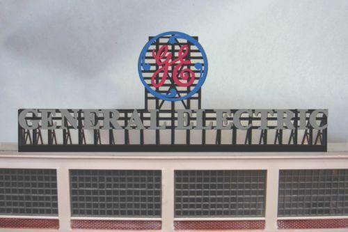 General Electric Animated Neon Sign O HO Scale Miller Engineering
